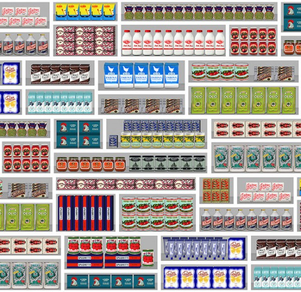 PNO-09 Supermarket Wallpaper