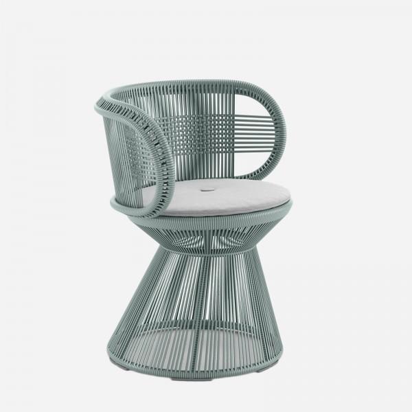 CIRQL Stuhl Mittelfuß Bluestone