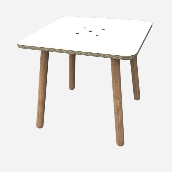 Kindertisch growing table square