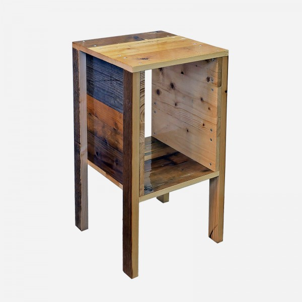 Nachttisch Scrapwood / bedside table high gloss