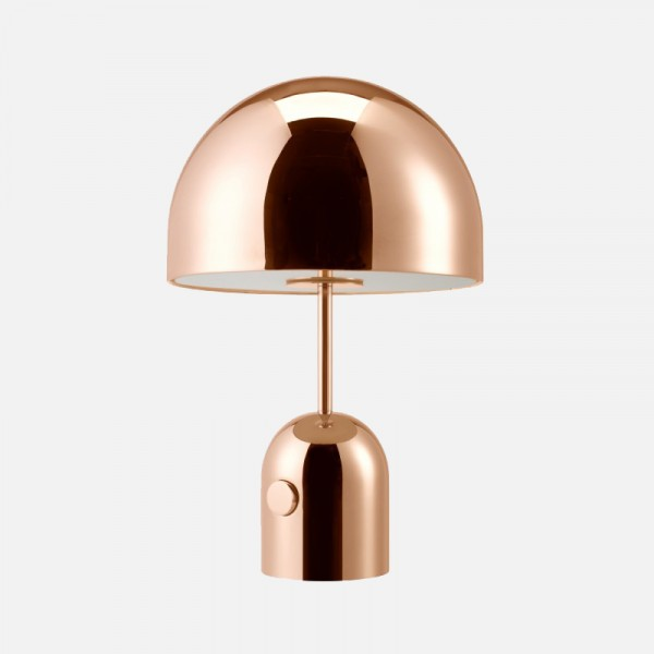 tischleuchte bell kupfer tischleuchten leuchten clic. Black Bedroom Furniture Sets. Home Design Ideas