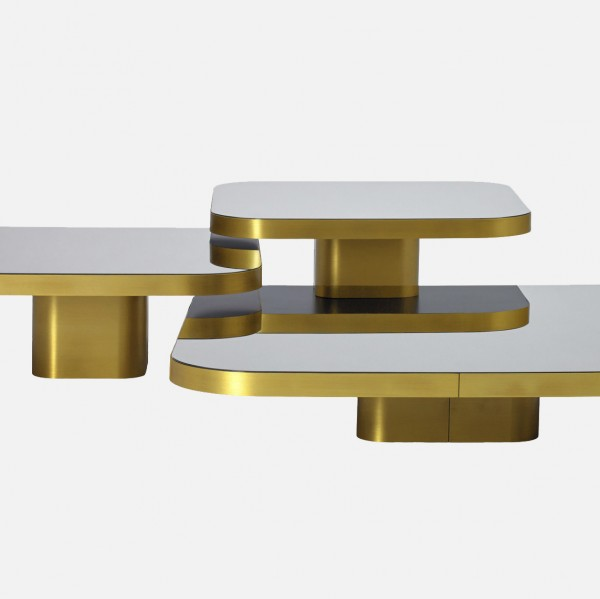 Bow Coffee Table Messing natur