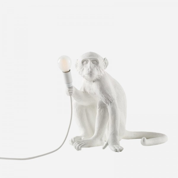 The Monkey Lamp Sitting