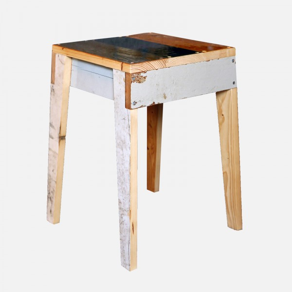 Hocker Scrapwood Hochglanz/stool high gloss